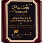 Lemont Nursing & Rehabilitation receives Best in Class award from Pinnacle Quality Insight